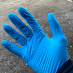 Перчатки нитриловые высококачественные. Голубые, сиреневые, черные. 50ш