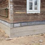 Замена гнилых брёвен дома