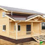 Каркасный Дом 7.2х8.1 м из бруса проект Оттава