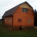 Сруб дома из бруса проект Владимир 9х7 м