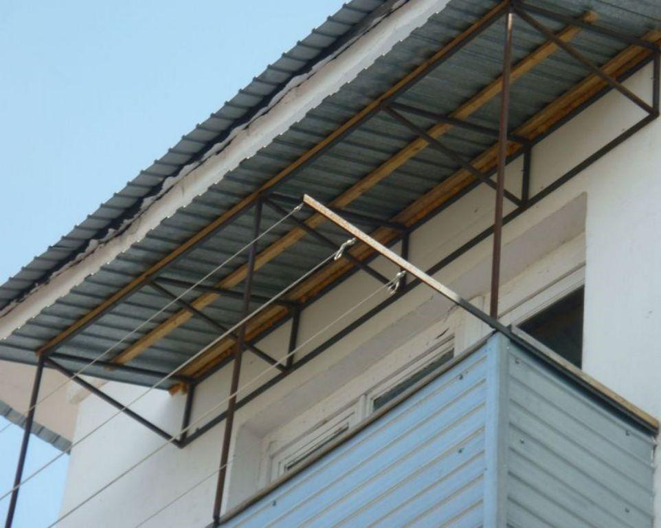 Установлю козырек на балкон