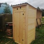 Дачный деревянный туалет. Бесплатная доставка.