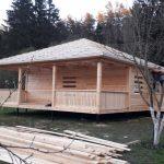 Строим Дома сруб из бруса Алекс 9×9м в Любани