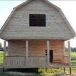 Дом сруб из бруса Елена 6×6 установка в Несвиже