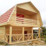 Строительство Дома и бани по индивидуальному проекту. Мядель