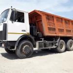 МАЗ 20т 16м3 - Доставка песка мытого, пгс, грунт плодородный, грунт для