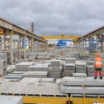 Рабочие на железо-бетонный завод