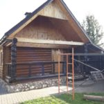 Шлифовка покраска деревянных домов, бань