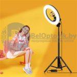 Кольцевая лампа на штативе LED RING 336 светодиодов, d335 мм сумка С к