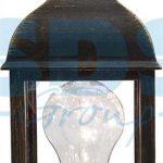 Декоративный фонарь с лампочкой, бронзовый корпус, размер 10.5х10.5х22,