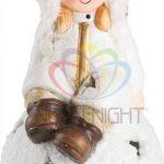 Керамическая фигурка Снегурочка на шаре 9-8-16 см