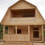 Дом из профилированного бруса сруб Николай 6х6 м