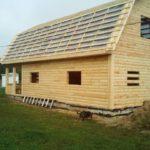 Дом из профилированного бруса проект Виктор 7х7 м