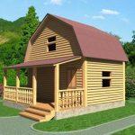 Дом из профилированного бруса Витольд 6х6 недорого