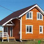 Каркасный Дом 9х6 м из бруса проект Онтарио