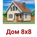 Дом сруб 8х8 Честер из профилированного бруса