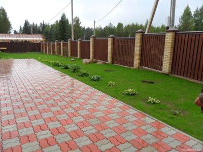 Укладка тротуарной плитки недорого Городея от 50 м2