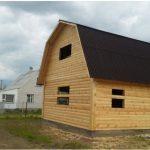 Деревянный Дом и баня.Строительство из бруса. Береза