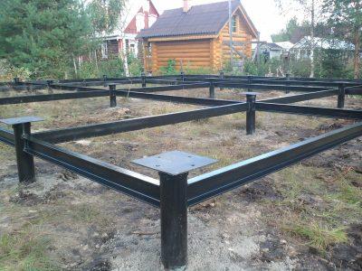Фундамент на сваях установка Минск / Мачулищи