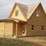 Дома из бруса Михаил 6×8 установка в Богушевске