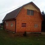 Дома сруб из бруса Влад 9х7 с установкой в Слуцке