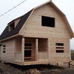 Дома из бруса Эмил 6×8 с установкой в Городокском р-не