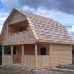 Дома из бруса Верона 6×6 установка в Ветке и р-не