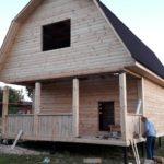 Дома брус сруб Алексей 6×6 установка в Хойниках