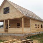 Дом для дачи 6х8 из бруса установка в Каменце