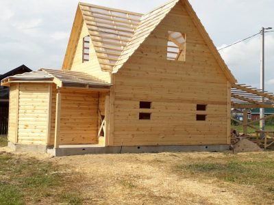 Строительство Домов и бань из бруса, под усадку. Логойск