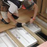 Монтаж деревянных полов с утеплением Жодино и район