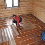 Монтаж деревянных полов с утеплением Смолевичи и район