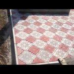 Благостройство. Облицовка могилы плиткой керамич, тротуарной