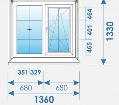 Окна Пвх 1360х1330 дешево профиль Brugmann-2