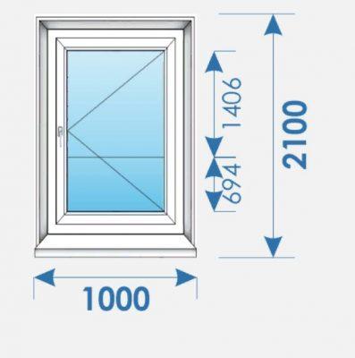 Двери Пвх 1000х2100 профиль Brugmann-3
