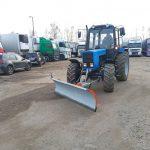 Механизированная уборка территории трактором МТЗ 82