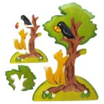 Пазл деревянный «Ворона и лисица»