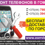 Ремонт телефонов в Гомеле. Бесплатная доставка по городу.
