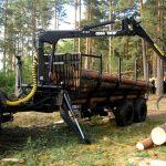 Услуги трактора лесовоза